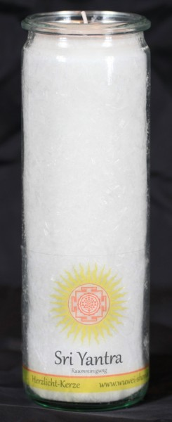 Herzlicht-Kerze Raumreinigung (Sri Yantra) 20 x 6 cm