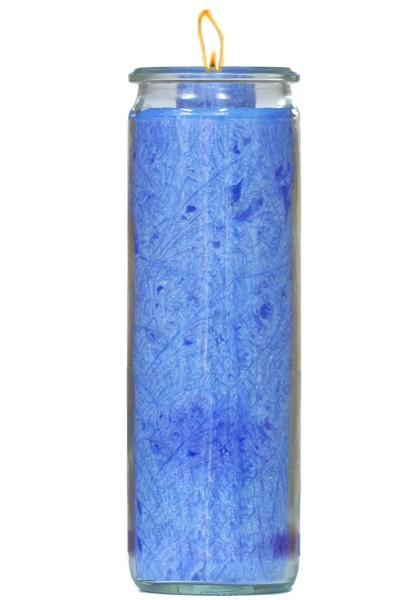 Herzlicht-Kerze dunkelblau 20 x 6 cm