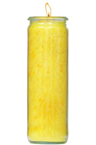 Herzlicht-Kerze gelb 20 x 6 cm