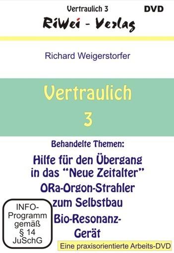 Richard Weigerstorfer - Vertraulich 3 (DVD)