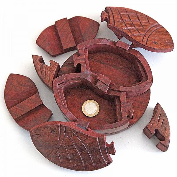 Puzzlebox aus Holz -Fisch-