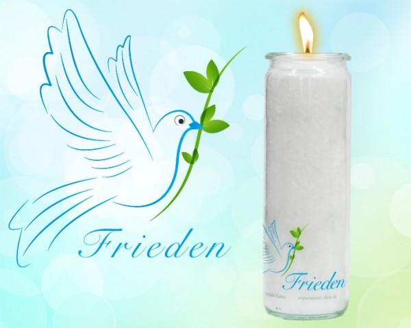 Herzlicht-Kerze Frieden im Glas 20 x 6 cm