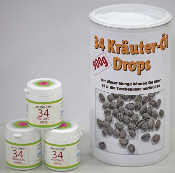 34-Kräuter-Öl Drops 900 g + 3x 40g
