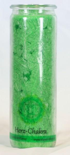 Herzlicht Herz-Chakra grün im Glas 20 x 6 cm