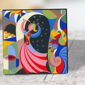 Goldmarie auf Leinwand 30 x 30 cm