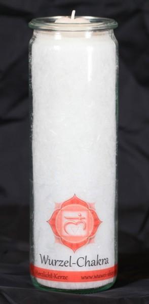 Herzlicht Wurzel-Chakra weiß 20 x 6 cm