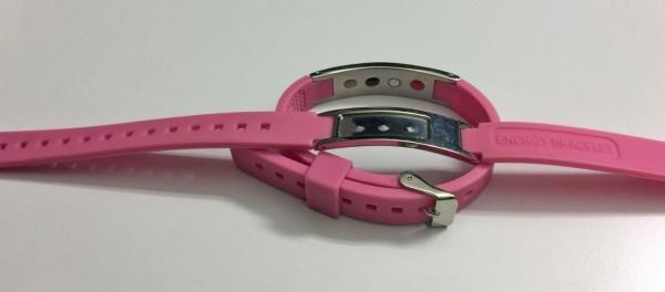 Urteilchen Energie-Armband pink mit leerem Lackfeld