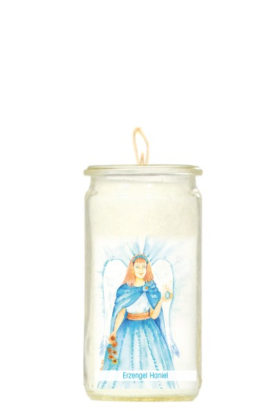 Herzlicht-Kerze -Erzengel Haniel- 13 x 6 cm