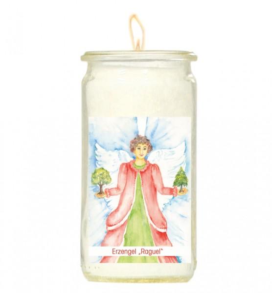 Herzlicht-Kerze -Erzengel Raguel- 13 x 6 cm